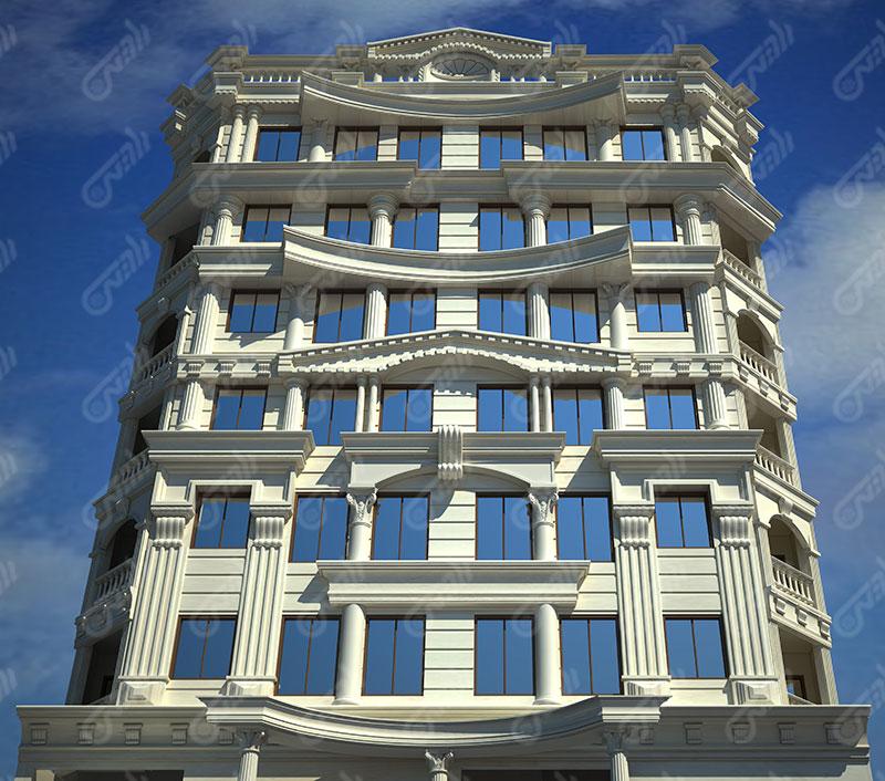 طراحی نما ساختمان 3d